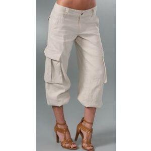 Alice + Olivia Congo Banded Linen Cargo Pant